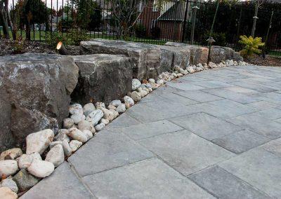 Patio Stonework Pathway